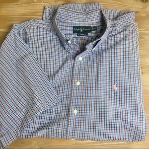Men's Ralph Lauren Short Sleeve Plaid Button Down